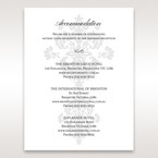 White Letter-fold Damask Pocket - Accommodation - Wedding Stationery - 49