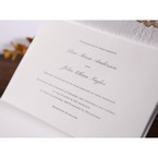 Raised black printing on white inner paper,trifold wedding invitation