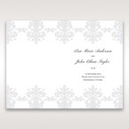 White Letter-fold Damask Pocket - Order of Service - Wedding Stationery - 76