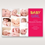 Red 3 by 3 Girl - Birth Announcement - 38