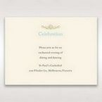 Yellow/Gold Regal Splendor - Reception Cards - Wedding Stationery - 18