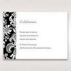Black Majestic - Reception Cards - Wedding Stationery - 53