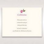 Red Flowers & Gemstones - Reception Cards - Wedding Stationery - 22