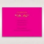 Pink Wild Floral Wreath - Reception Cards - Wedding Stationery - 68