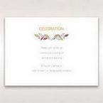 White Wild Floral Wreath - Reception Cards - Wedding Stationery - 48