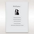 Silver/Gray Traditional Birde and Groom - Reception Cards - Wedding Stationery - 29