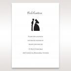 Black Traditional Birde and Groom - Reception Cards - Wedding Stationery - 69