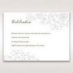 Green Romatic Couture with Pearls - Reception Cards - Wedding Stationery - 63