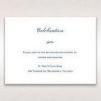 Blue Classic Embossed with a Brooch - Reception Cards - Wedding Stationery - 60