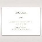 Brown Embossed Classic Couture, Gold - Reception Cards - Wedding Stationery - 76