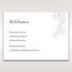 Pink Embossed Romantic Couture, Pink - Reception Cards - Wedding Stationery - 68