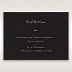 Black Elegant Swirls, Silver & White - Reception Cards - Wedding Stationery - 14