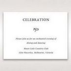 White Romantic Laser Cut - Reception Cards - Wedding Stationery - 53