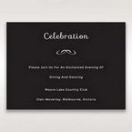 Black Laser Peacock Laser Cut Pocket With Foil - Reception Cards - Wedding Stationery - 38