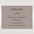 Silver/Gray Laser Peacock Laser Cut Pocket With Foil - Reception Cards - Wedding Stationery - 14