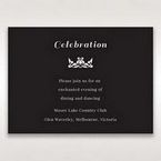 Black Vintage Rose Layered Laser Cut - Reception Cards - Wedding Stationery - 89