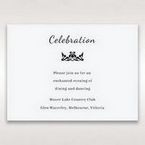 White Laser Gated Elegance Laser Cut Pocket - Reception Cards - Wedding Stationery - 10