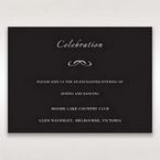Black Laser Contempo Laser Cut Pocket - Reception Cards - Wedding Stationery - 74