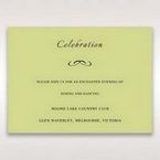 Green Laser Contempo Laser Cut Pocket - Reception Cards - Wedding Stationery - 54