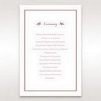 Red Old-fashioned Romance - Order of Service - Wedding Stationery - 46