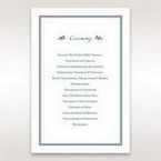 Blue Old-fashioned Romance - Order of Service - Wedding Stationery - 47