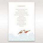 Red Love Birds - Order of Service - Wedding Stationery - 70