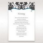 Black Black Grandeur - Order of Service - Wedding Stationery - 88