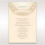 Yellow/Gold Around the Globe with Love - Order of Service - Wedding Stationery - 25