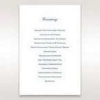 Blue Classic Embossed with a Brooch - Order of Service - Wedding Stationery - 74