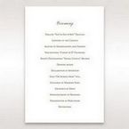 Brown Embossed Classic Couture, Gold - Order of Service - Wedding Stationery - 2