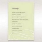 Green Butterfly in the Green Meadow - Order of Service - Wedding Stationery - 11
