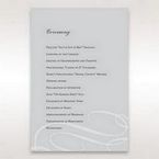 Silver/Gray Elegant Swirls; Silver & White - Order of Service - Wedding Stationery - 14