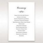 Silver/Gray Kinne Ivory - Order of Service - Wedding Stationery - 31