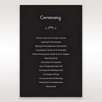 Black Laser Peacock Laser Cut Pocket With Foil - Order of Service - Wedding Stationery - 70