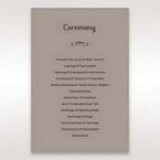 Silver/Gray Laser Peacock Laser Cut Pocket With Foil - Order of Service - Wedding Stationery - 33