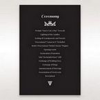 Black Vintage Rose Layered Laser Cut - Order of Service - Wedding Stationery - 79