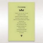 Green Laser Vintage Rose Layered Laser Cut - Order of Service - Wedding Stationery - 83