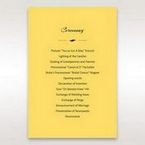 Yellow/Gold Mystic Forest Band Laser Cut - Order of Service - Wedding Stationery - 43