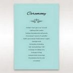 Blue Laser Wild Roses Laser Cut Wrap - Order of Service - Wedding Stationery - 87