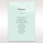 Blue Laser Cut Floral Pocket - Order of Service - Wedding Stationery - 33