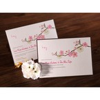 Rectangular spring flower diamante embellished invite with envelope