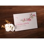 Jeweled spring flower design flat layer card with chocolate brown border, hand assembled detail