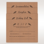Brown Rustic - Reception Cards - Wedding Stationery - 9