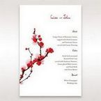 Red Plum Blossoms - Menu Cards - Wedding Stationery - 32