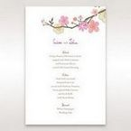 Pink Warm & Mellow Spring - Menu Cards - Wedding Stationery - 21