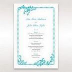 Blue Romantic Modern Floral - Menu Cards - Wedding Stationery - 13