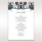 Black Black Grandeur - Menu Cards - Wedding Stationery - 36