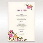 Red Flowers & Gemstones - Menu Cards - Wedding Stationery - 68