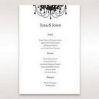 Black Black, White Chandelier - Menu Cards - Wedding Stationery - 40