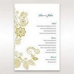 Yellow/Gold Splendid Golden Swirls - Menu Cards - Wedding Stationery - 4